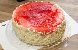 Torta Hojarasca Manjar Frambuesa sin Azúcar