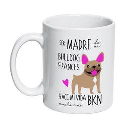 Tazon Ceramico Bull Dog Frances Cafe