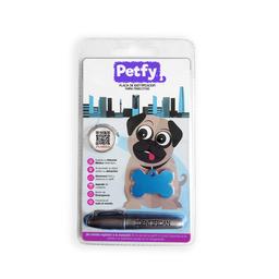 Placa Petfy Qr Celeste