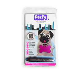 Placa Petfy Qr Rosada
