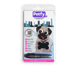 Placa Petfy Qr Negra