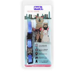 Collar Mini Petfy Qr Celeste