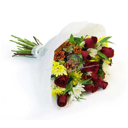 Ramo 10 Rosas y Flores Variadas