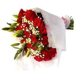 Ramo con 36 Rosas, Lilums y Palmareca