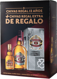 Whisky Chivas Regal 12 Años + Petaca 200Cc Chivas Extra