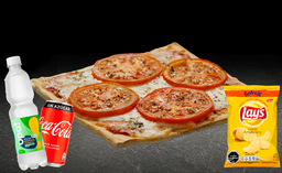 Pizza Margarita Individual + Bebida 350cc + Papas Lays 42g