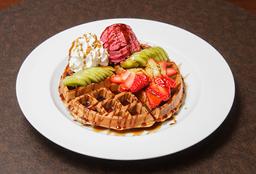 Waffle Kiwi Uva + Helado