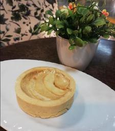 Tartaleta de manzana con crema pastelera