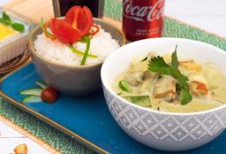 Disfruta Curry Verde Vegetariano