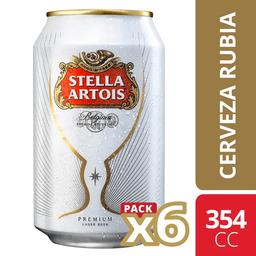 Cerveza Stella Artois Lata Six Pack 354cc