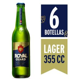 6x Cerveza Royal Guard 355cc Botella