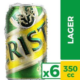 Cerveza Cristal Six Pack Lata 355cc