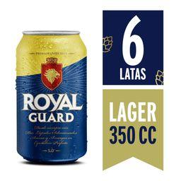 6x Cerveza Royal Guard Lata 350cc