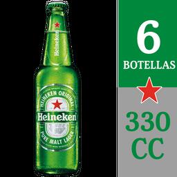 Six Pack Cerveza Heineken Botella 330cc