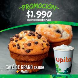 Promo: Café de grano grande + Muffin
