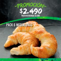 Promo: Pack 6 medialunas
