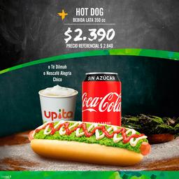 Promo: Hot dog + bebida lata 350 cc