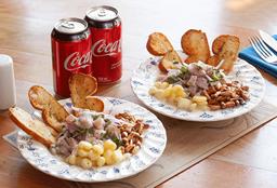 Camarones apanados del muelle + Ceviche de Pescado + 2 bebidas