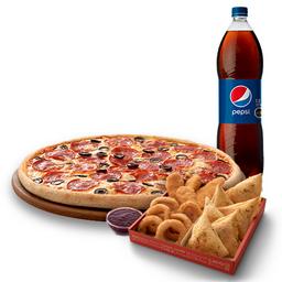 Arma tu Pizza Familiar con Bebida & Chicken Mix