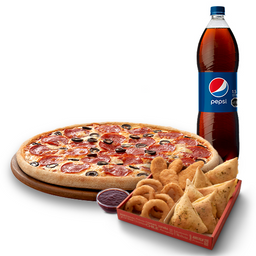 Arma tu Pizza Familiar + Chicken Mix  + Bebida 1,5 Lt