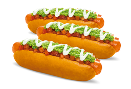 3 Hot Dogs Extra