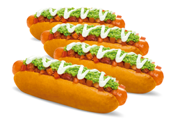 4 Hot Dogs Extra
