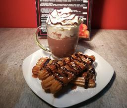Churros + Chocolate Caliente