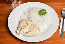 Pechuga de Pollo a la Plancha + Porción de Arroz
