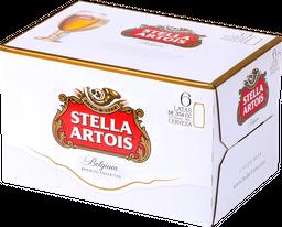 Six Pack Cerveza Stella Artois Lata 354cc