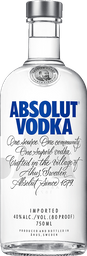 Absolut Original 40° Vodka 750cc