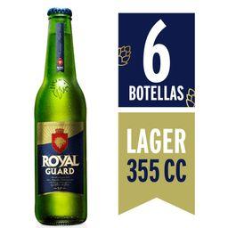 Cerveza Royal Guard Botella Six Pack 355cc