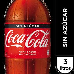 Bebida Coca Cola Sin Azucar Botella 3Lt