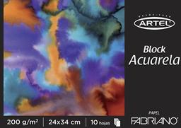 Bloc 24X34 Fabriano Para Acuarela Artel
