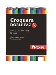 Croquera 21.6X27.9 Doble Faz Carta Torre