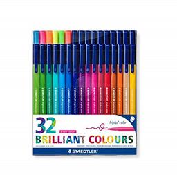 Lapices Fibra Triplus 32 Colores Staedtler
