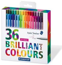 Lapices Fineliner 334 36 Colores Staedtler