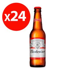 Cerveza Budweiser 355cc Botellín 24x
