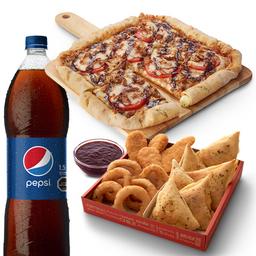 Pizza Quad Roller con Bebida & Complementos