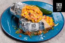 Burrito Wey weon y burrito pinche vegetariano