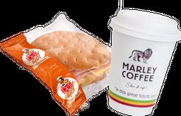 Promo: Sandwich Hallulla Aliado 120g + Cafe Grande 414cc