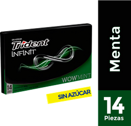 Chicle Trident Sin Azucar Sabor a Menta 25.2g