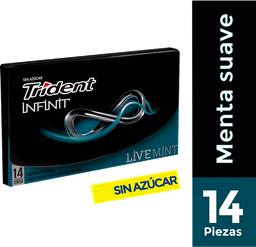 Chicle Trident Sin Azucar Sabor a Menta Verde 25.2g