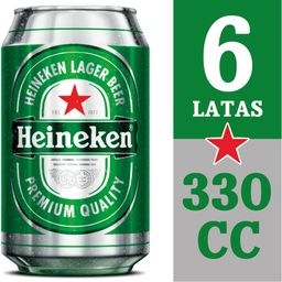 Six Pack Cerveza Heineken 350ml C/U