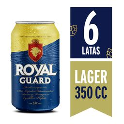 Six Pack Cerveza Royal Guard 350cc C/U
