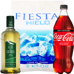Promo Alto del Carmen + 2k Hielo + Bebida 1,5L