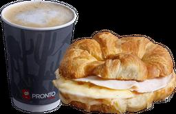 Combo Croissant jamón queso + Café en grano