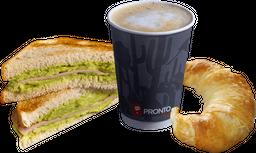 Combo Desayuno Tapadito + Medialuna + Cafe de Maquina