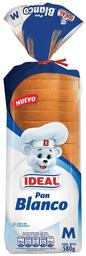 Pan de Molde Blanco Ideal 580g