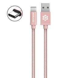 Cable Tipo C Rosado Premium Braided