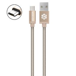 Cable Micro USB Dorado Premium Braided